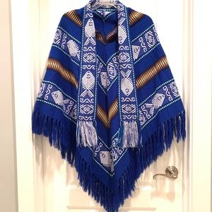 Beautiful Tribal Patterned Poncho